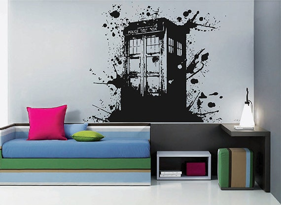 Tardis Vinyl Wall Decals Doctor Who Wall Decals Doctor Who