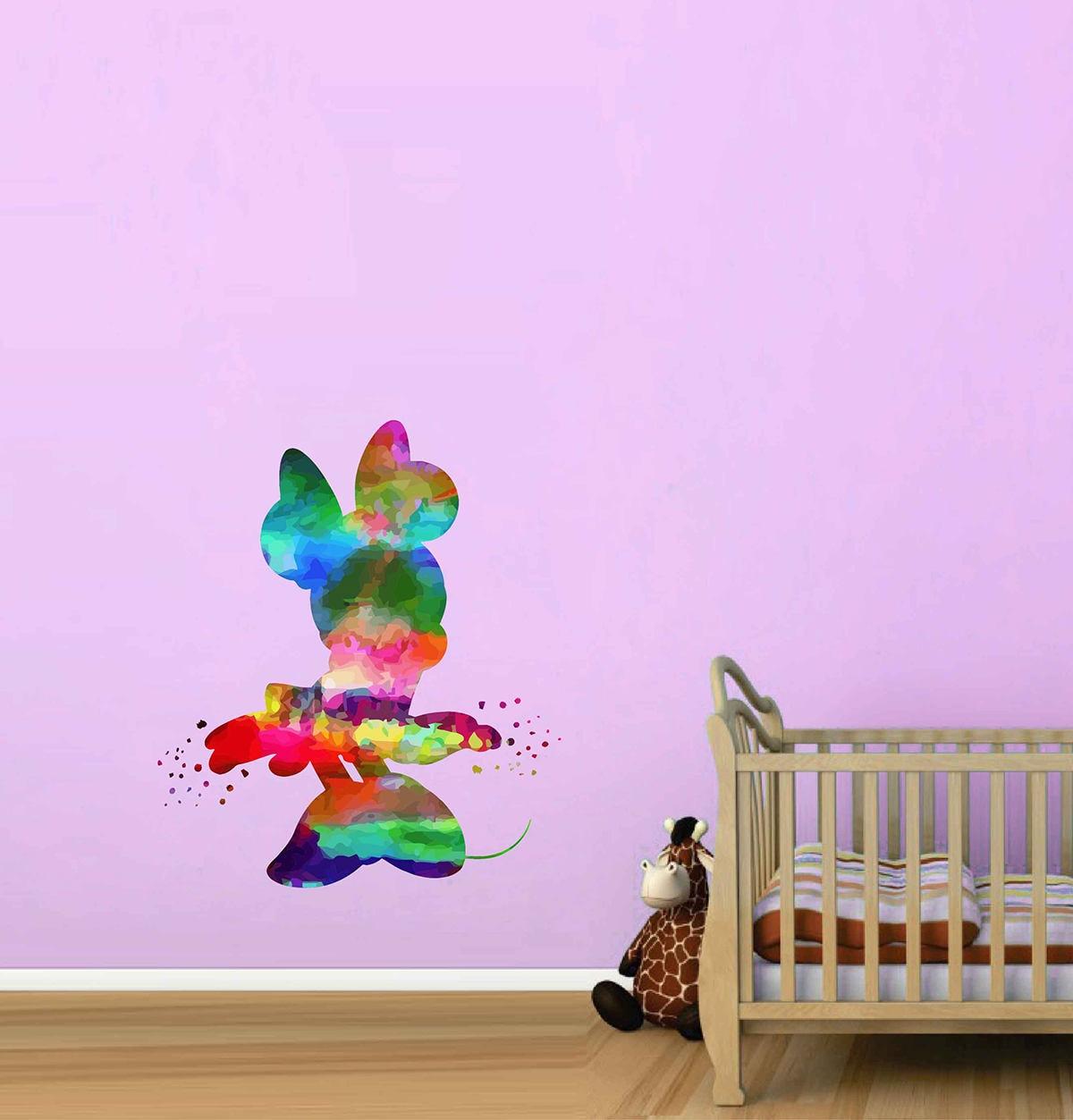 Minnie Maus Wandtattoos Disney Minnie Maus Aufkleber | Etsy