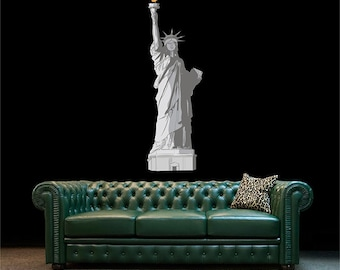 Statue of Liberty Decal Wall Mural Statue of Liberty Wall Design Liberty Wall Art New York City Decal Wall kcik1283
