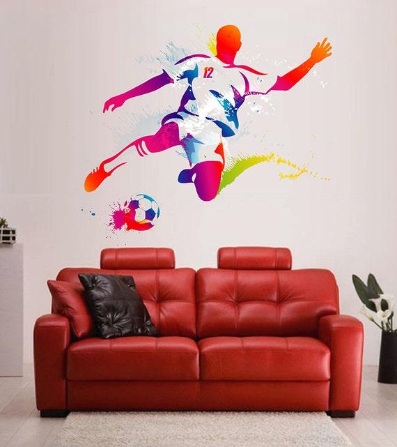 Fussball Spieler Wandtattoo Fussball Spieler Wand Aufkleber Mehrfarbig Fussball Wandtattoo Fussball Wandtattoo Kcik120