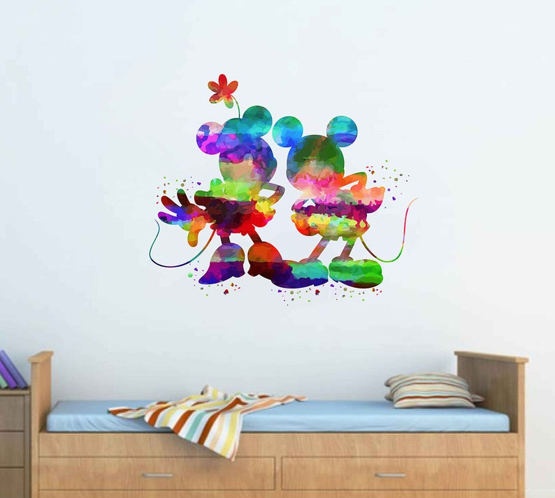 . mickey mouse wall decal Minnie Mouse Wall Stickers walt disney decal disney  wall art nursery wall decal vinyl wall decal kcik1961