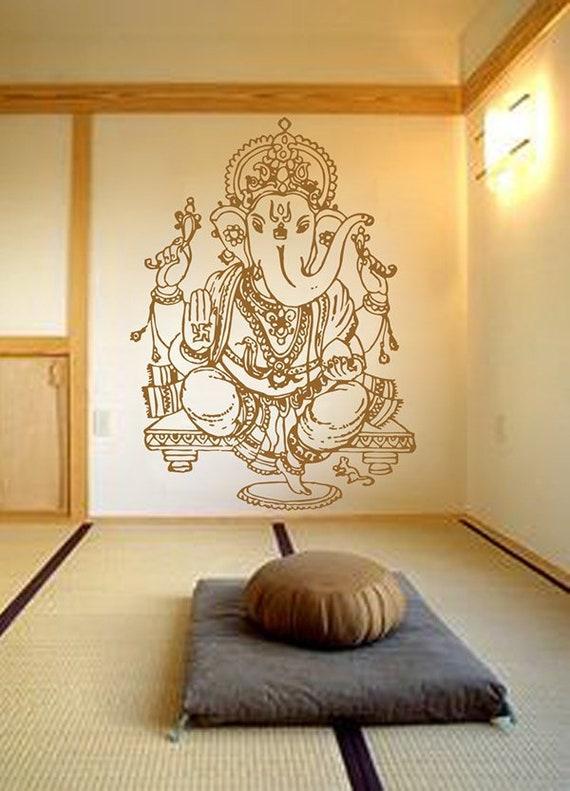 Ganesha wall decals Hindu God Ganesha wall decals Elephant wall decals Yoga  Studio Decor Sticker Bedroom india ganesha wall stickers kik483