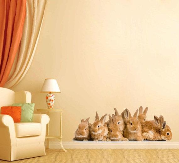 Animals Wall Decals Rabbits Wall Decals Rabbits Wall Decor Etsy