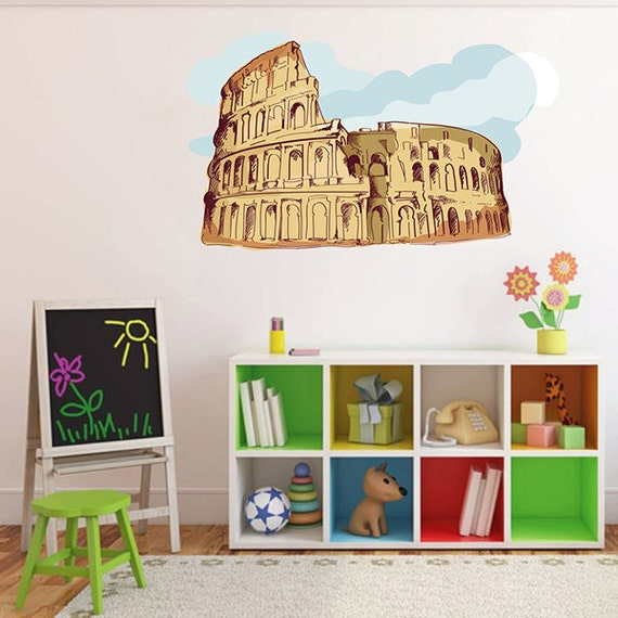 Kcik194 full color wall decal coliseum rome italy for Wall stickers roma