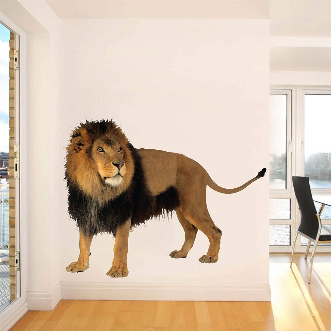 Lion Wall Decals Lion Wall Decor Lion Full Color Decals Etsy