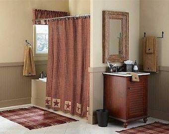 Sturbridge Patch Shower Curtain Wine