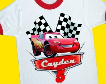 Cars Birthday Shirt Family Birthday Shirts Super Hero Shirt VISIT OUR SHOP!! Cars Shirt Cars Party Favor We Add ANY name and Age on it Cars CARS Birthday Shirt