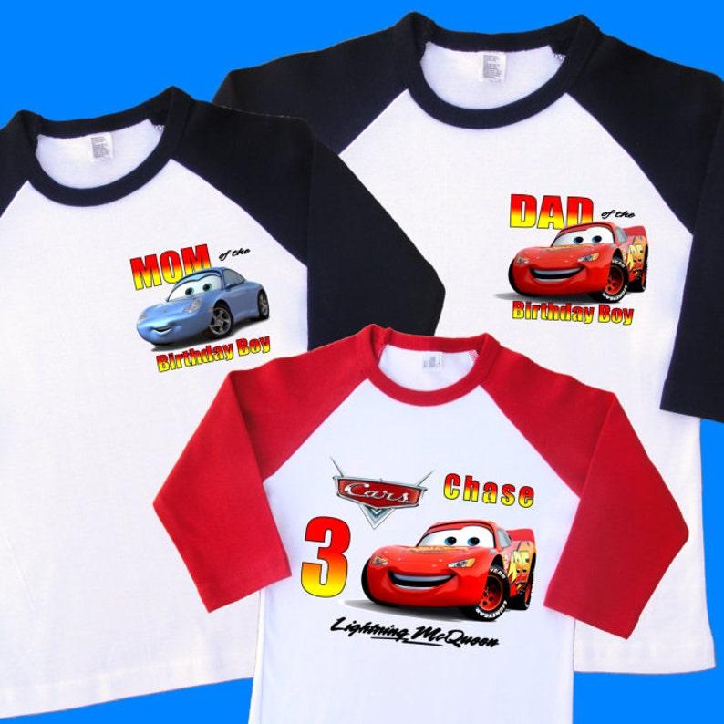 Cars Lightning McQueen Family Birthday Shirts Set Of 3