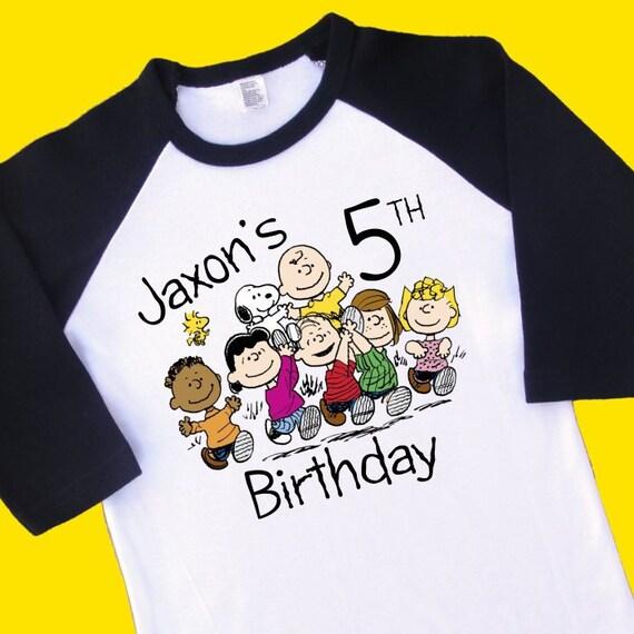 Peanuts Gang Charlie Brown Birthday Shirt Personalized