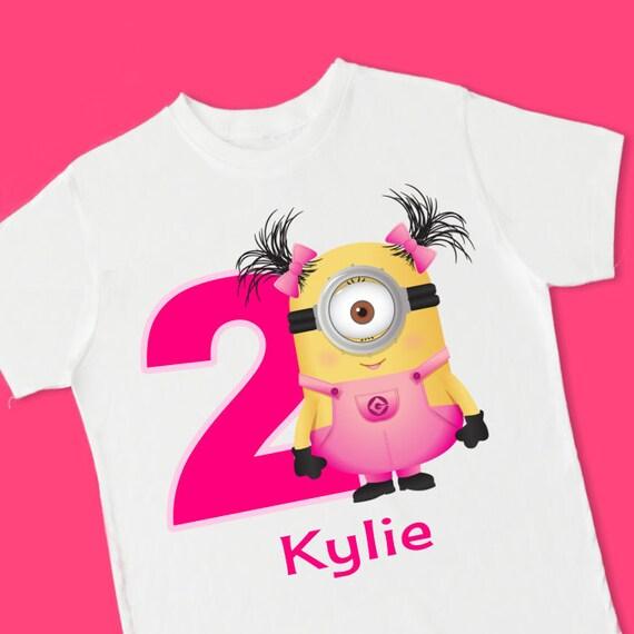 Girl Minion Birthday Tee Personalized Birthday T Shirt