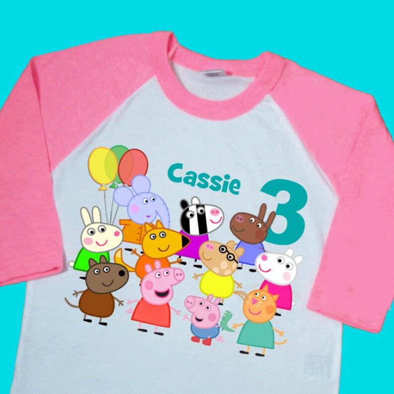 Peppa Pig Birthday Tee Personalized T Shirt
