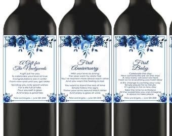 Bridal Shower Wine Labels, Marriage Milestone Wine Labels, Custom Wedding Gift Wine Label, Gift for Bride, Wedding Wine Labels Download MM01