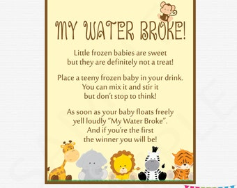My Water Broke Game Etsy