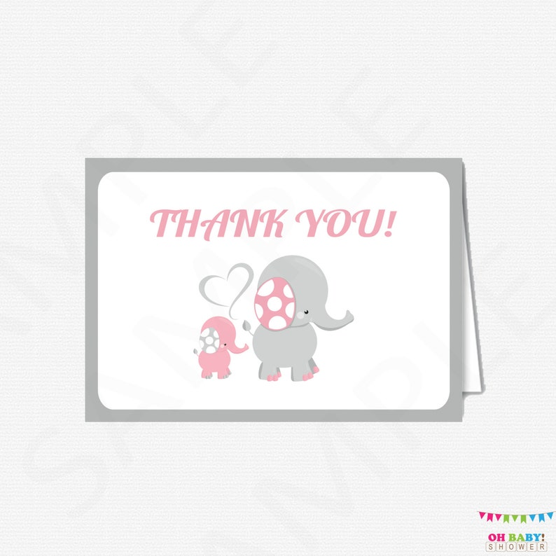 graphic relating to Printable Baby Shower Thank You Cards known as Red and Grey Elephant Little one Shower Thank By yourself Playing cards Lady, Elephant Boy or girl Shower, Printable Child Shower Thank Yous, Thank Oneself Playing cards, EL0005-LP