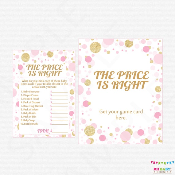 Pink And Gold Baby Shower Girl Wishes For Baby Girl Card Sign