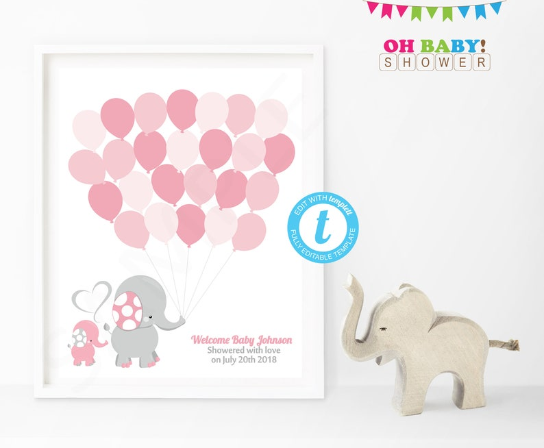 photograph regarding Baby Shower Guest Book Printable referred to as Visitor Reserve Elephant, Elephant Child Shower Visitor E book, Printable, Visitor E book Template, Red and Grey Elephant Child, Template EL0005-LP
