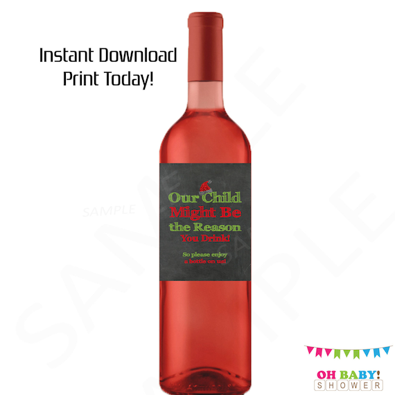 Christmas Teacher Gifts Wine Our Child Might Be The Reason You Drink Teacher Christmas Gift Ideas Printable Wine Label Daycare Provider