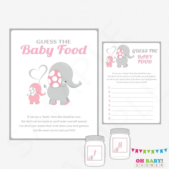 graphic about Guess the Baby Food Game Printable identified as Elephant Youngster Shower, Bet the Kid Meals, Youngster Shower Game titles, Crimson and Grey, Printable Immediate Down load, Woman Child Shower, Signal, EL0005-LP