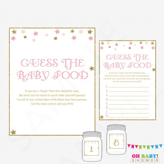 Extra Answer Cards X 12 Guess the Mess Baby Shower Game