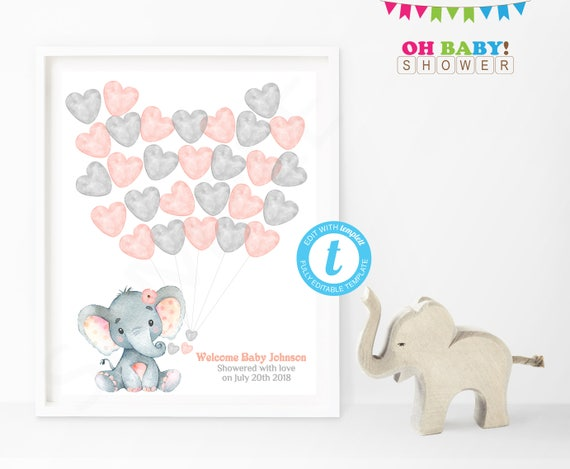 Guest Book Alternative Elephant Baby Shower