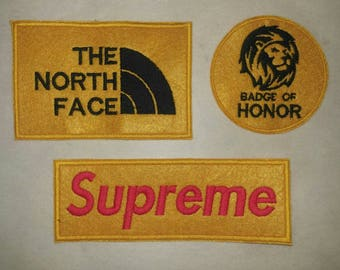 e958d221040 The North Face Badge of Honor Supreme Embroidery Sew on Patch hot for DIY  Cap T Shirt Bag Jacket Jeans Denim Craft Collection + FREE Ship