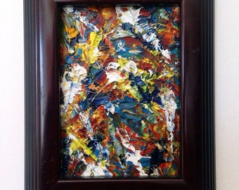Micro Painting By PMS Artwork - One Of A Kind - Original Oil Painting