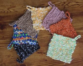 Tawashi recycled cloth, dish scrubber, cloth wipe, ZERO waste, household linens, sponge, rag