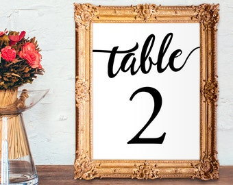 Wedding table numbers 1-50 - printable table numbers - PRINTABLE - 5x7