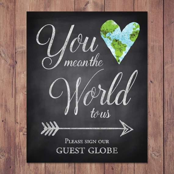 rustic wedding guest book sign you mean the world to us. Black Bedroom Furniture Sets. Home Design Ideas