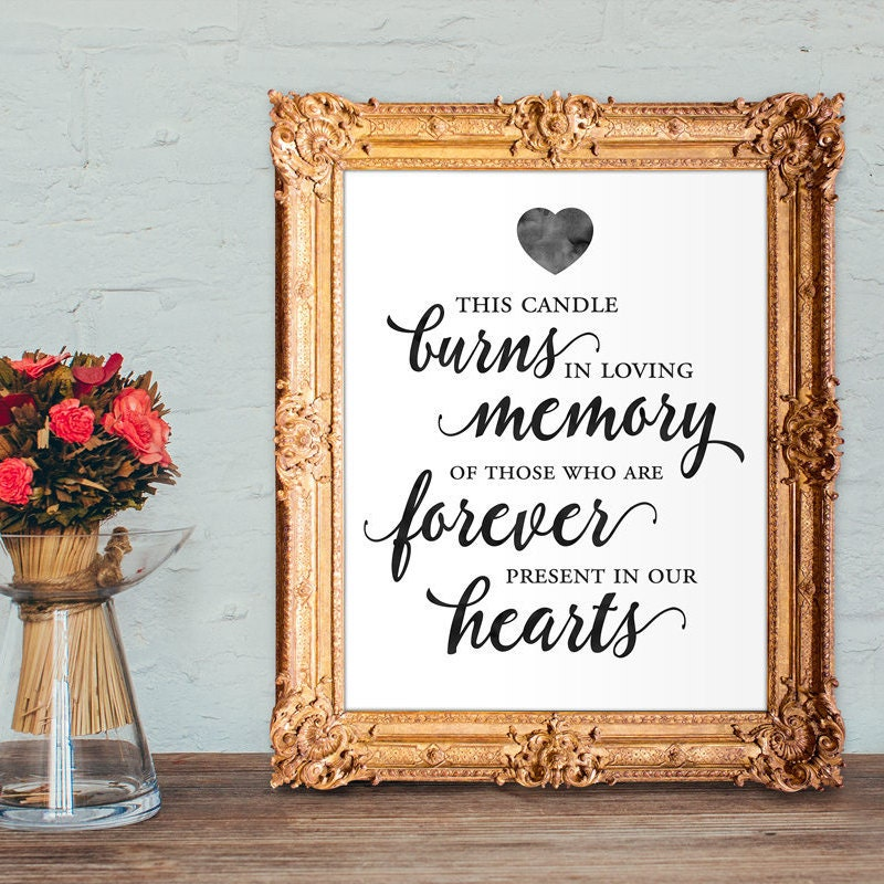 It's just a graphic of Exhilarating This Candle Burns in Loving Memory Free Printable