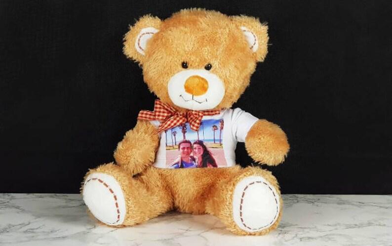 79e737db44b186 Gepersonaliseerde teddybeer met bedrukte T-shirt aangepaste | Etsy