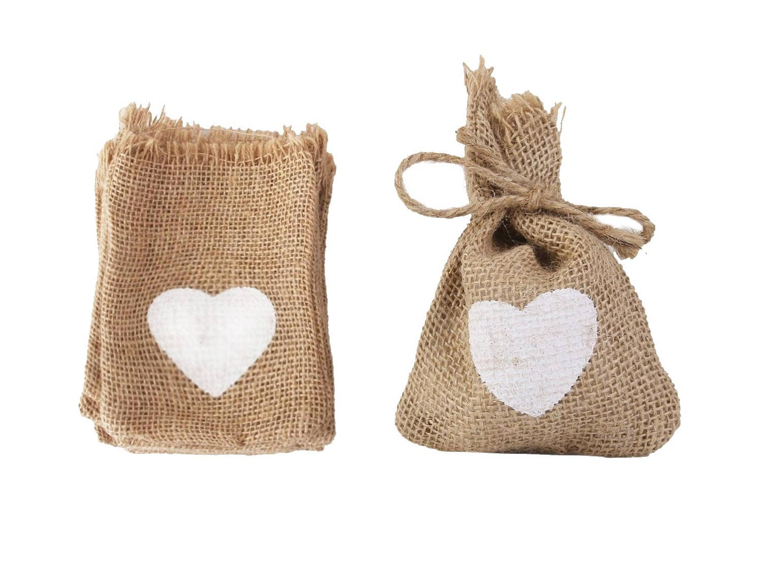 100 HESSIAN FAVOR BAGS, wedding favor bags, burlap bags, wedding ...