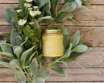 Gardenia Beeswax Tallow Candle - Beeswax Candle - Organic Candle - Beeswax - Tallow - Gardenia Candle - Floral - Garden Light Candles