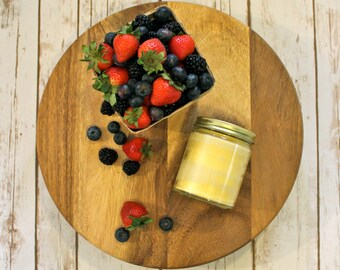 Blueberry Beeswax Tallow Candle - Beeswax Candle - Organic Blueberry Candle - Beeswax - Tallow  - Blueberries - Garden Light Candles