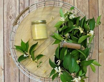 Honeysuckle Beeswax Tallow Candle - Beeswax Candle - Organic Candle - Beeswax - Tallow - Honeysuckle Candle - Summer - Garden Light Candles