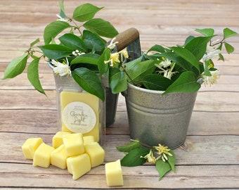 Honeysuckle Beeswax Tallow Wax Melts - Beeswax Melts - Tallow Wax Melts - Organic - Beeswax - Tallow - Gardenia - Garden Light Candles