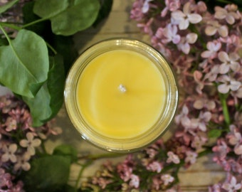 Lilac Beeswax Tallow Candle - Beeswax Candle - Organic Lilac Candle - Beeswax - Tallow - Lilac - Gift for Her - Garden Light Candles