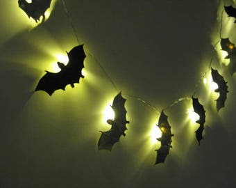 LED String Lights - #Bats, Night Lights, Novelty Lights, #Bat Lights, Bat Decor, #Battery Operated, #Black Bats, Halloween