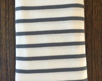 Baby Swaddle Blanket and Bundle Options in Gray and White Stripe