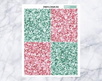 Beauty // Glitter Headers Planner Stickers