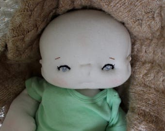 Reserved for Marti- SOLD-Luca a 19 inch lifesize handmade one of a kind doll