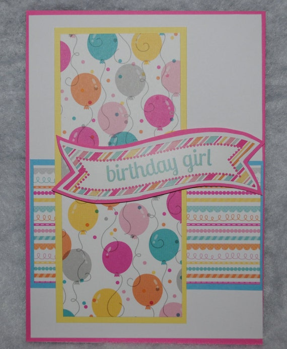 Handmade Birthday Card For Girl Etsy