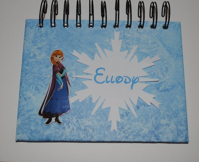 personalized disney frozen anna autograph book etsy