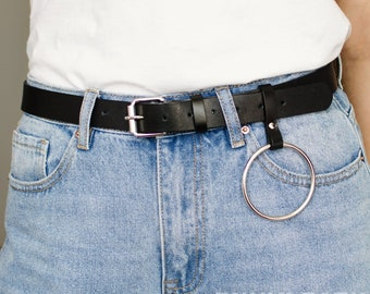 ec3e55e8be7 O-ring leather belt