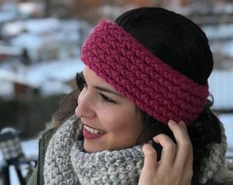 Chunky Loom Knit Turban Headband