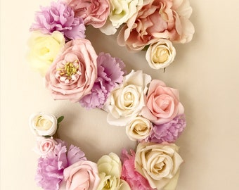 Floral Wall Initial / Wall Decor