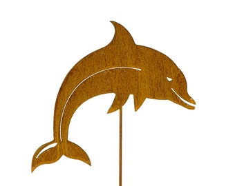 Dolphin Porpoise Metal Garden Yard Pond Lawn Art Stake