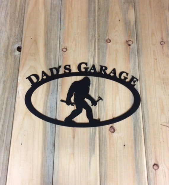 Dads Garage Metal Wall Art Sign Dad Gift Ideas Fathers Etsy