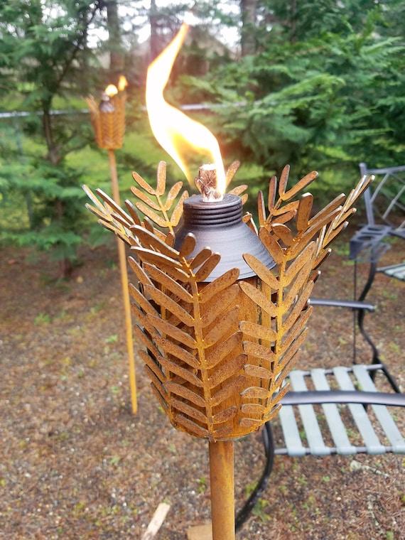 Metal Tiki Torches For Patio Lighting Garden Lighting | Etsy