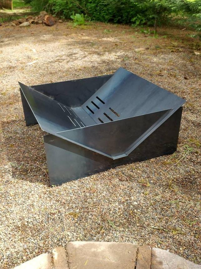 Backyard Fire Bowl outdoor fire pit backyard fire pit bowl | etsy